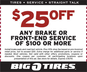 Alignment Coupon Big O Tires Batman Origins Deals
