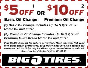 big o tires coupons oil